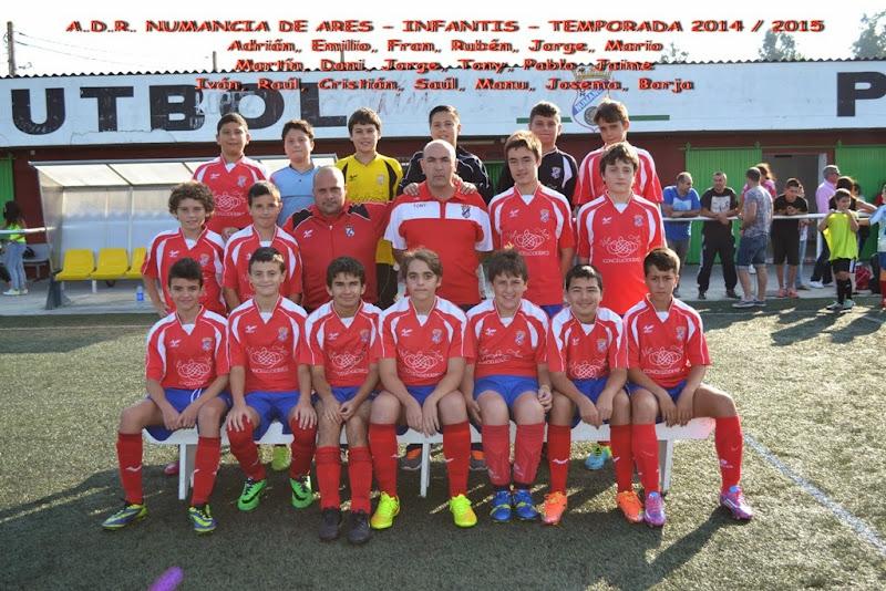 Numancia de Ares. Equipo Infantil Temporada 2014 - 2015.