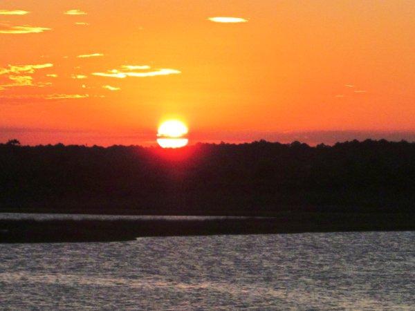 Orange Sky in North Carolina