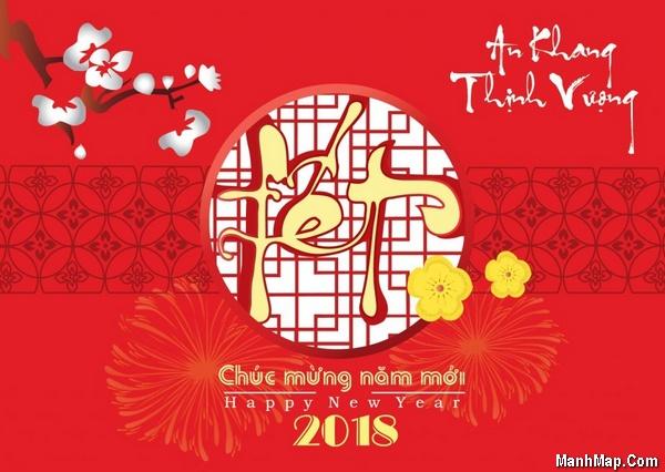Chùm thơ Xuân Mậu Tuất, chúc mừng năm mới 2018