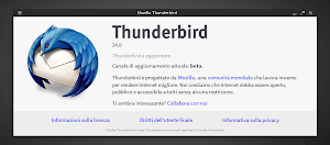 Mozilla Thunderbird 24 Beta in Linux