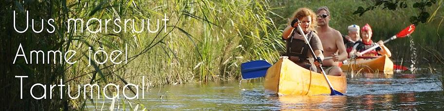 Veematkajad kanuumatkal Amme jõel