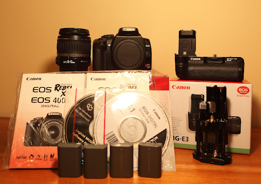 FS: SOLD! LNIB Canon 400D/XTI + BG-E3 Battery Grip + 18-55mm