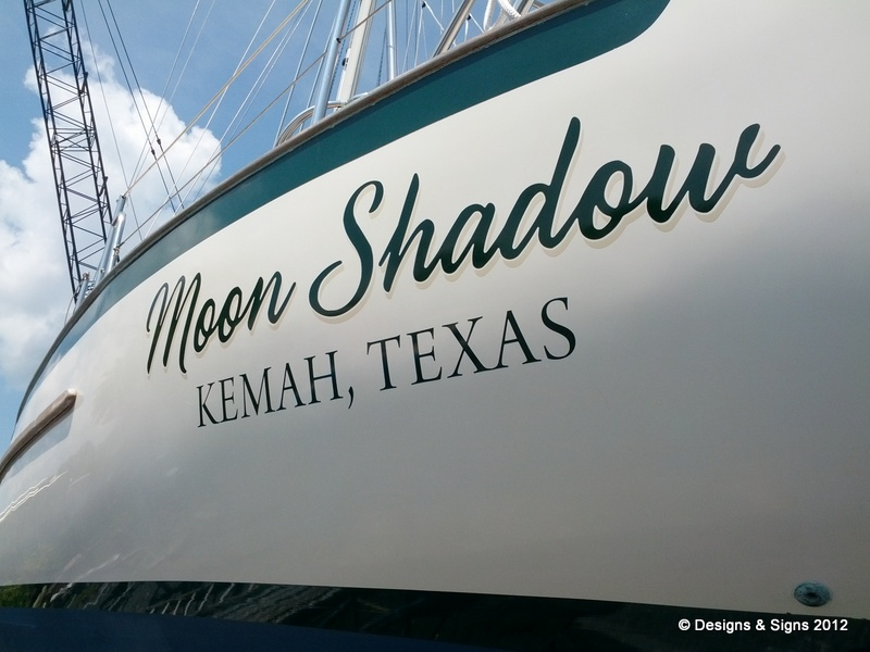 Vinyl Boat Names - Moon Shadow