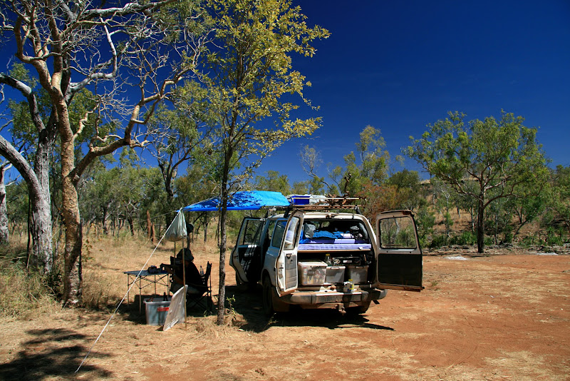 Outback camping Australia northern territory Gregory National Park Landcruiser