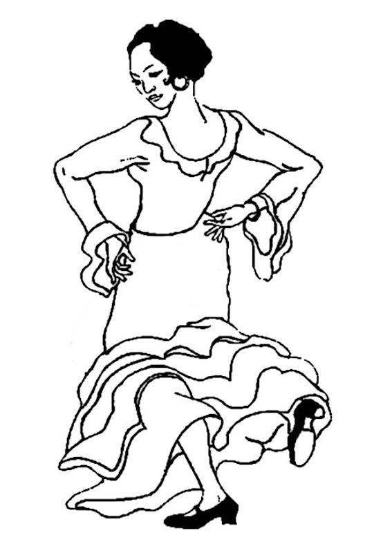 Flamenco para colorear