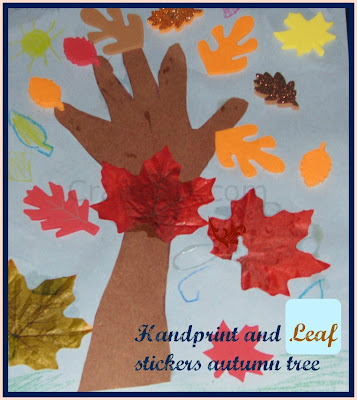 Fall Tree Collage craft/Art