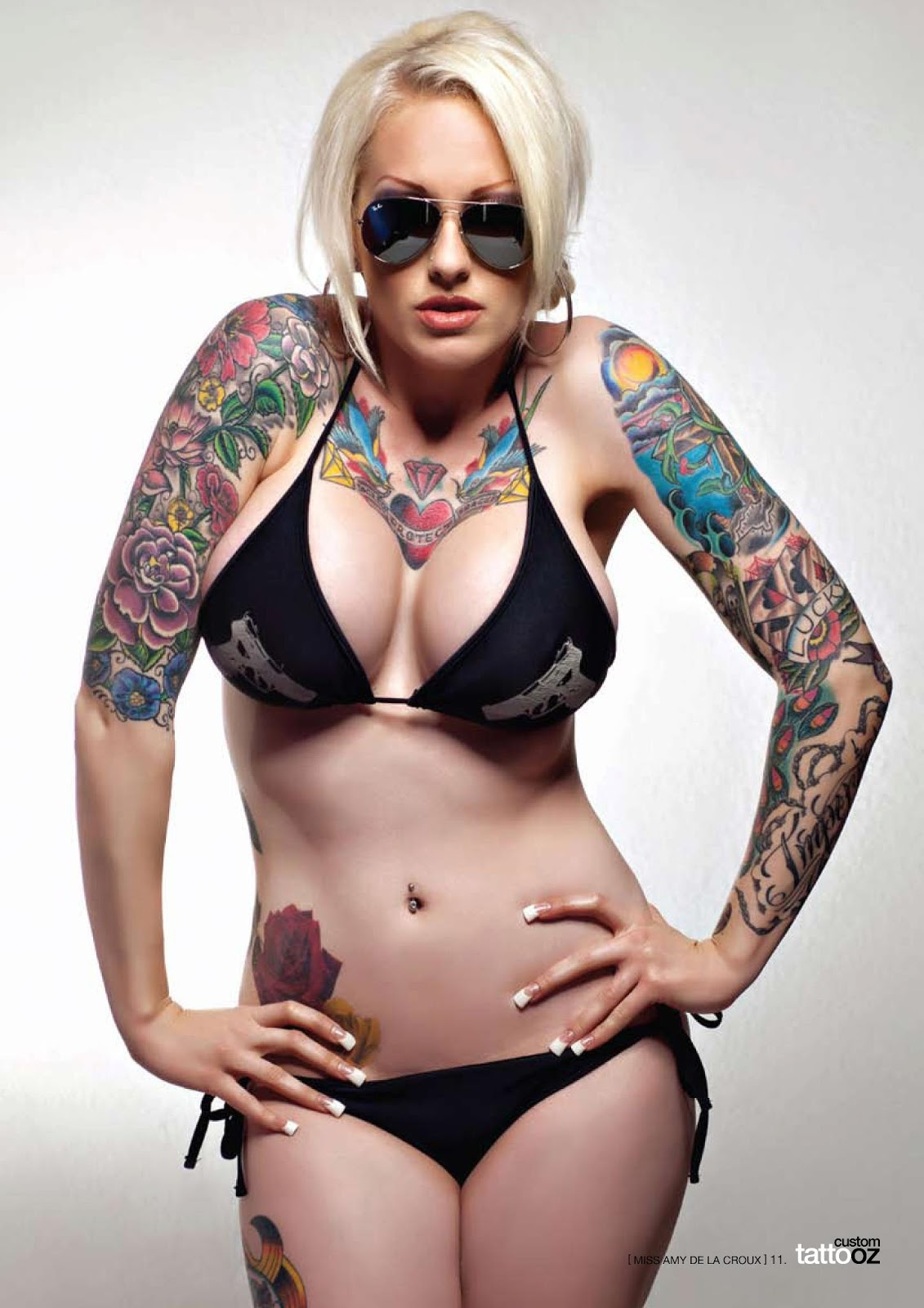 San Diego tattooed model Amy DeLaCroux