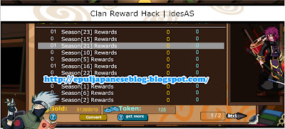 Cheat Ninja Saga Clan Reward (Season 1 - Season 23)