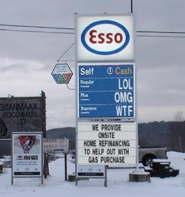 funny gas station sign