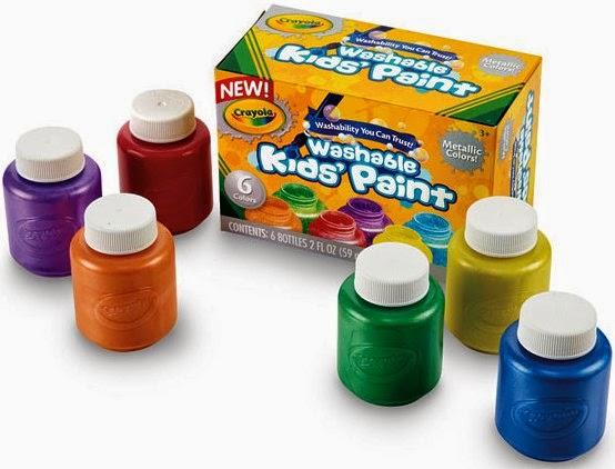 Bộ 6 lọ màu nước Crayola Washable Kids' Paint có thrể tẩy rửa được