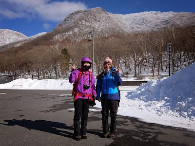 新年最初の赤城山黒桧山の雪山歩き