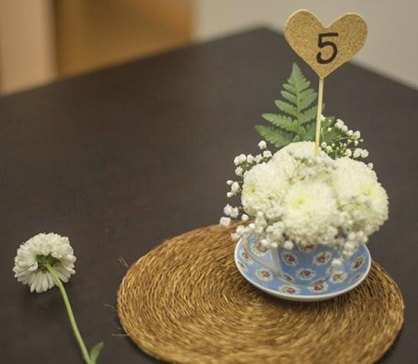 Enfeite de centro de mesa para bodas