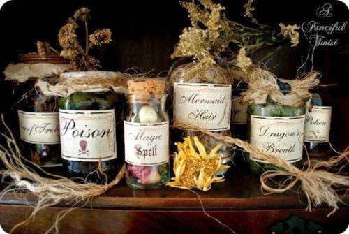Potions And Spells Enchantment Set 10 Ingredient Labelsstickers By Afancifultwist