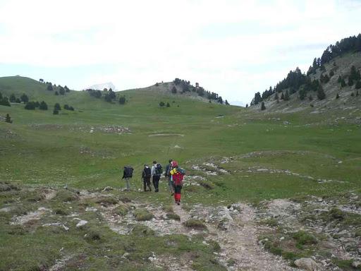 Vallée de Combau, en direction du pas de l'Essaure