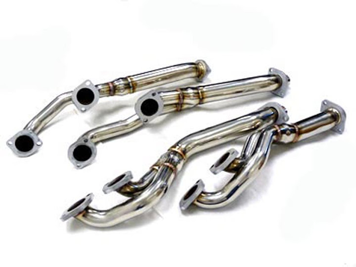 OBX Exhaust Header 95 96 97 98 99 00 01 BMW E36 740IL M60 M62 Stainless Steel