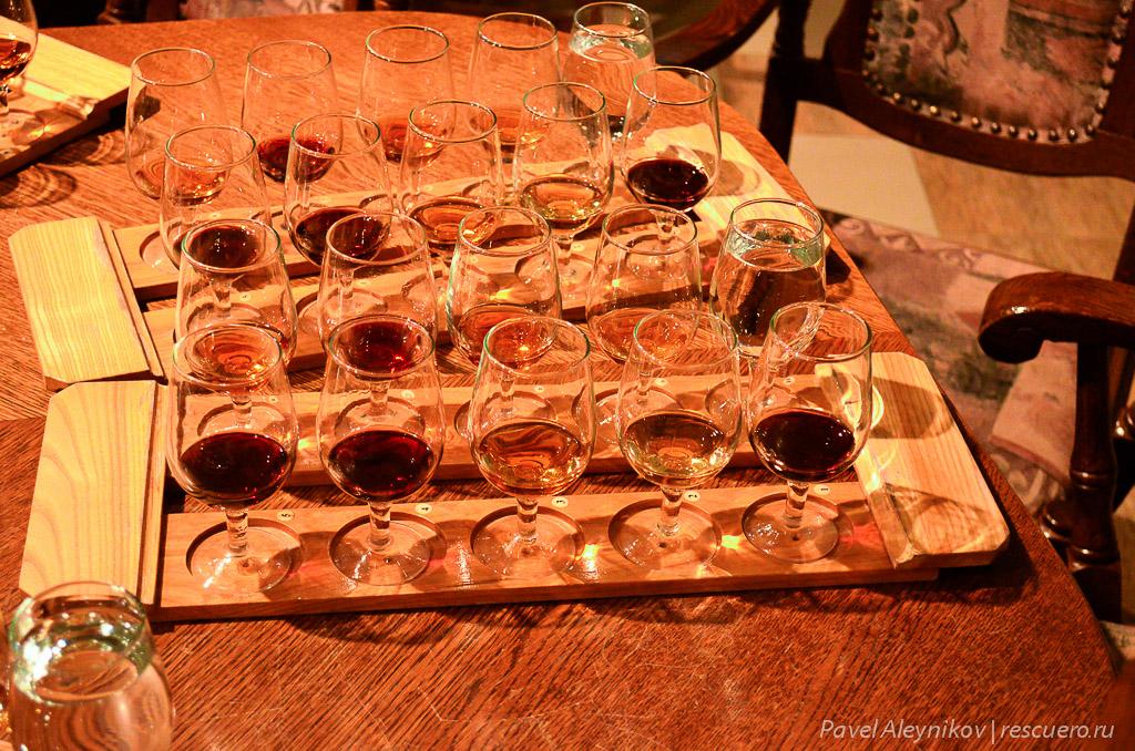 дегустация 9 марочных вин