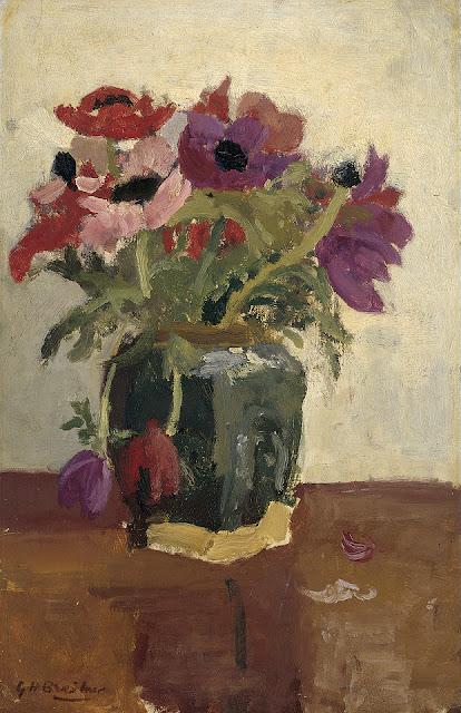 George Hendrik Breitner - Gemberpot met anemonen