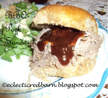 Eclectic Red Barn: BBQ Pork Sandwich