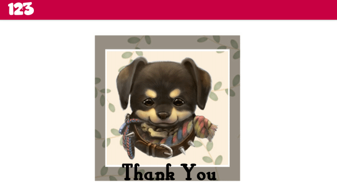 Include custom image to Thank You page for