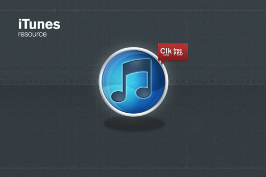 iTunes logo icon download psd