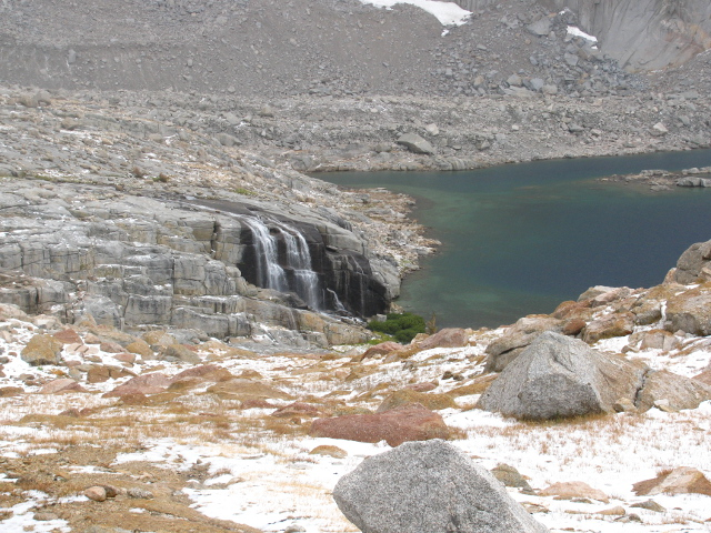 waterfall filling the upper Crabtree Lake