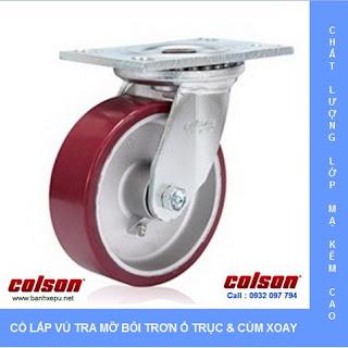 Bánh xe đẩy công nghiệp chịu tải trọng nặng (540~680kg) www.banhxepu.net