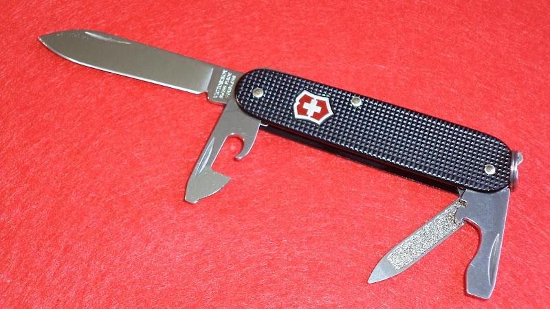 I Love Sak S Victorinox Alox Cadet Black With Red Shield