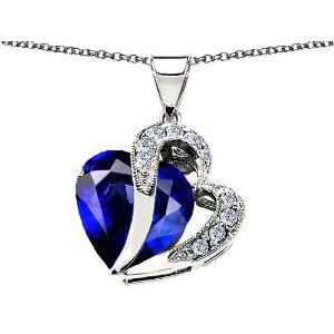 Heart Shape Sapphire Pendant
