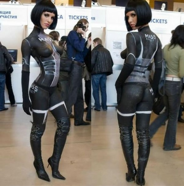 mass effect cosplay nude