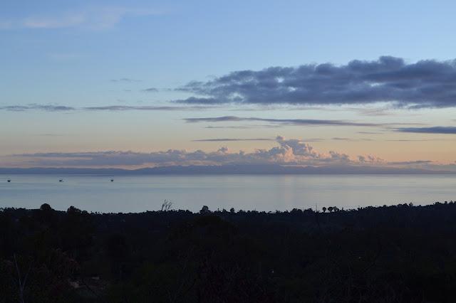 clouds over  Santa Cruz Island