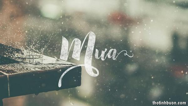 Thơ mưa tháng 10, tình thơ Mưa tháng Mười cô đơn & lạnh lẽo