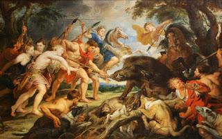Καλυδώνιος Κάπρος είναι γνωστό ένα φοβερό στο μέγεθος και στη δύναμη αγριογούρουνο, το οποίο έστειλε η Θεά Άρτεμις.