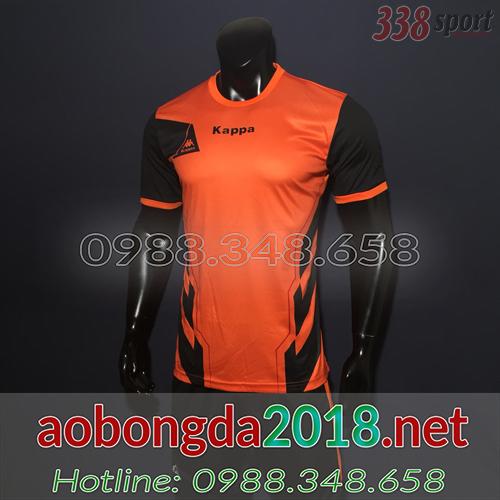 áo bóng đá không logo đẹp kappa piter cam