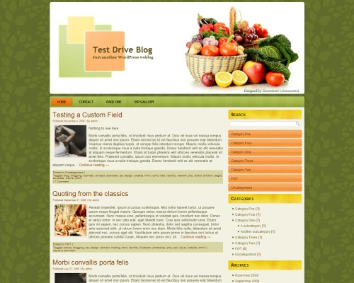 Healthy Food Theme