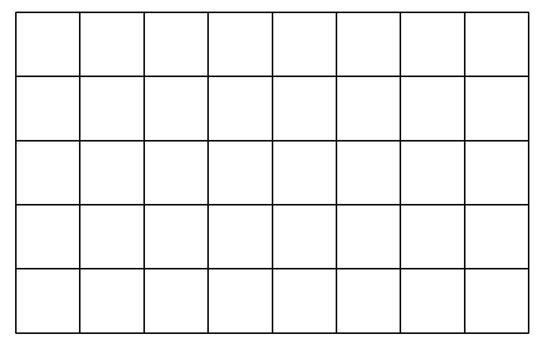 Lưới ô vuông - hình chữ nhật