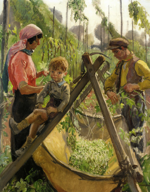 Laura Knight - The Hop Pickers in Malvern