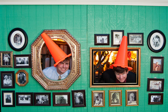 wedding photo booth wall cone heads