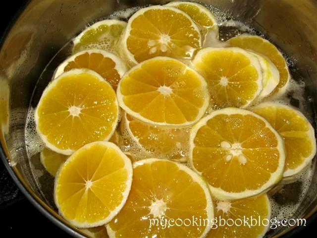 Портокалови кръгчета в захарен сироп