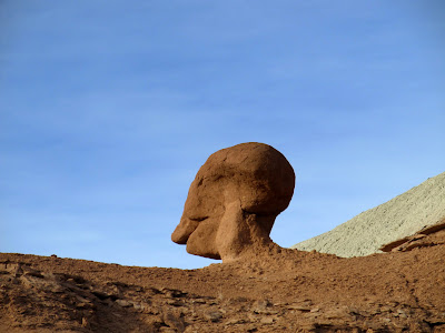 Alien head in the Entrada Sandstone