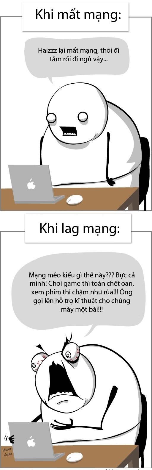 tranh vui về mạng internet