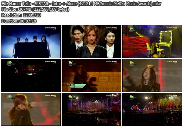 [Perf] SISTAR   Intro + Alone @ MelOn Music Awards 121214