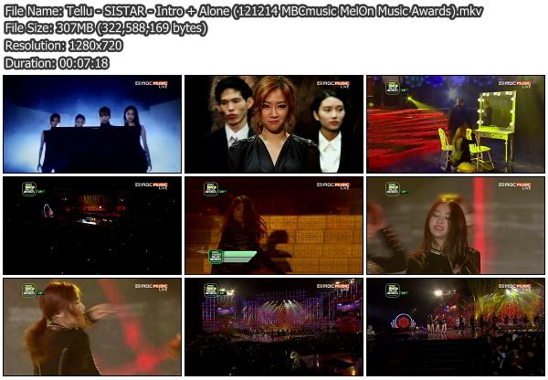 [Perf] SISTAR   Intro + Alone @ MelOn Music Awards 121214