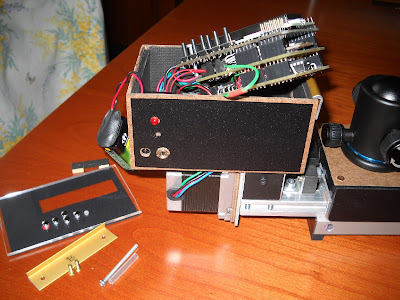14 - Overall view of the electronics box with its lexan cover