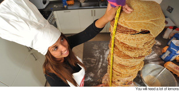 World's Tallest Pancake Stack