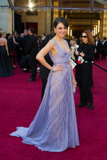Mila Kunis Gorgeous Red Carpet Celebrity Dress