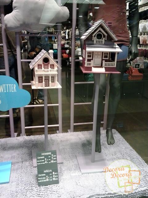 Decorar con casas para pájaros.