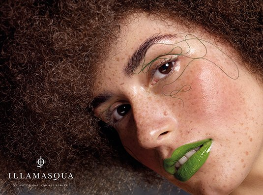 Illamasqua Imperfection collection, campaña 2013