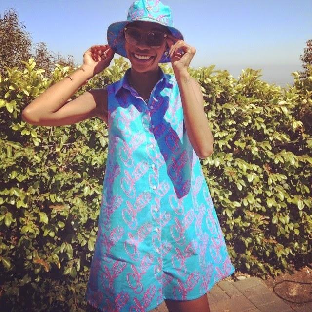 Melissa Forde in Versace, JoyRich
