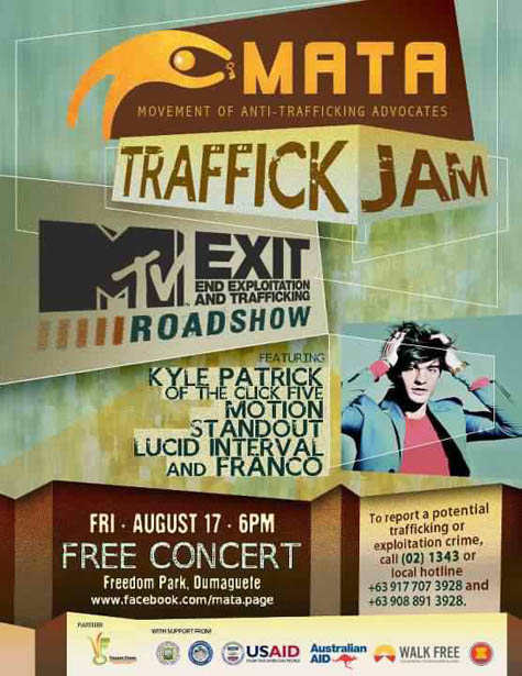 MTV Exit 2012 Free Concert Dumaguete, Movement of Anti-Trafficking Advocates