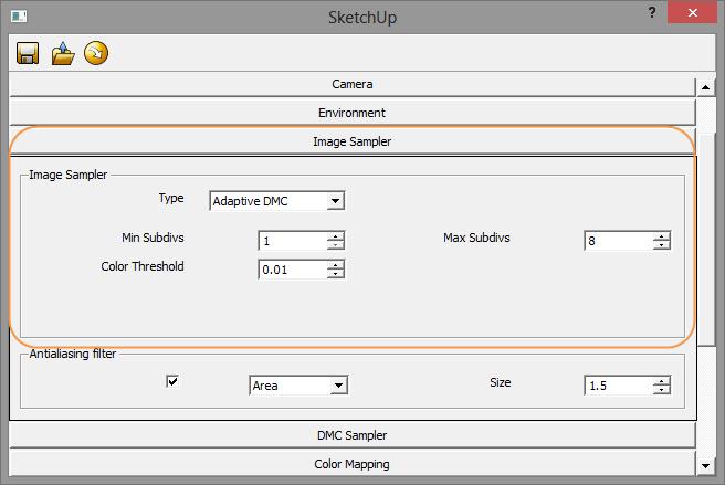 ตัวอย่างการกำหนดค่า V-Ray Options ในส่วนของ Image Sampler Vrayimagesam03